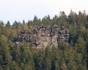 Mönchswand - Blick auf die Talseite  dieses Klettergipfels