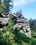 Sächsische Dianawand – Klettergipfel im Gebiet Weißbachtal bei Lückendorf