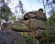 Sphinx, Klettergipfel unterhalb der Töpferbaude am Töpfer bei Oybin