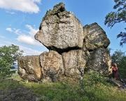 Töpferkrone, Blick in die Westseite mit Töpferbaudenwand
