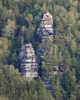Unterer, Oberer Mönch und Kastenturm in der Unteren Felsengasse