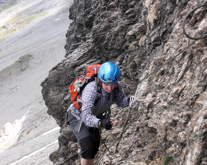Klettersteig Rotstock : Heike richter im rotstock klettersteig
