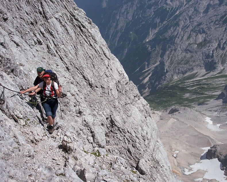 Klettersteig Zugspitze Höllental : Zugspitze via höllental hochtour mit klettersteig